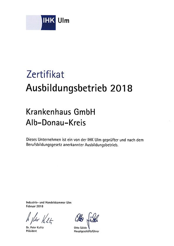 KH GmbH, Ausbildungsbetrieb 2018
