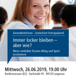 Gesundheitsforum Langenau, Juni 2019