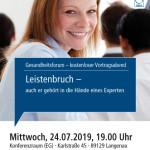 Gesundheitsforum Langenau, Juli 2019