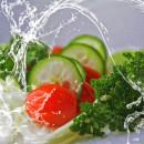 Salat und Gemüse