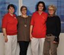 Vier Mitarbeiterinnen der ersten Stunde im Seniorenzentrum Erbach