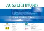 DSO Urkunde, Alb-Donau Klinikum Ehingen