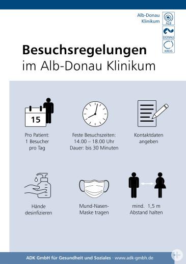 Besuchsregeln Alb-Donau Klinikum
